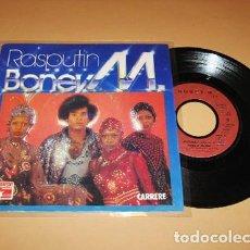 Discos de vinilo: BONEY M. - RASPUTIN - SINGLE - 1979. Lote 252706400