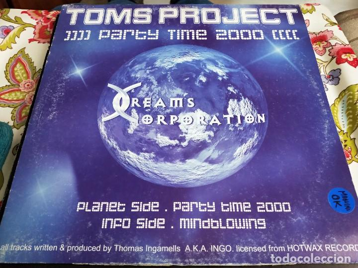 "TOMS PROJECT* - PARTY TIME 2000 (12"") SELLO:DREAMS CORPORATION Nº: DC015. BUEN ESTADO. VG+++ / VG (Música - Discos de Vinilo - Maxi Singles - Punk - Hard Core)"