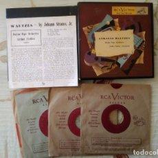 Discos de vinilo: 2 CAJAS MUSICA CLASICA - DISCOS SINGLES. Lote 252708885