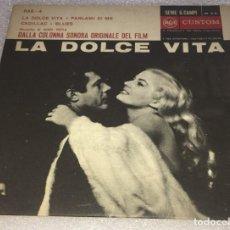 Dischi in vinile: EP TEMAS DE LA PELICULA LA DOLCE VITA - RCA CUSTOM RAE4 -PEDIDOS MINIMO 7€. Lote 252709420