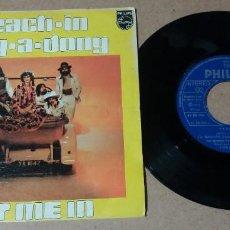 Discos de vinilo: TEACH-IN / DING-A-DONG / SINGLE 7 PULGADAS. Lote 252734600