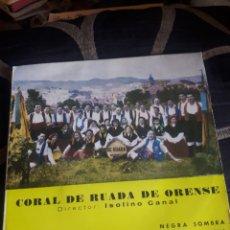 Discos de vinilo: ANTIGUO VINILO, CORAL DE RUADA DE ORENSE, A ESTRENAR. Lote 252772475