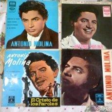 Disques de vinyle: 14 SINGLES ANTONIO MOLINA. ODEON. Lote 252779775