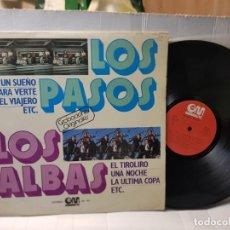 Discos de vinilo: LP -LOS PASOS Y LOS ALBAS- GRABACIONES ORIGINALES EN FUNDA ORIGINAL 1978. Lote 252782830