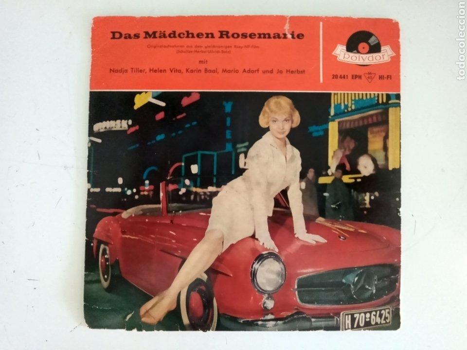 DAS MÄDCHEN ROSEMARIE (LA NIÑA ROSEMARIE) - EXTENDED PLAY - VINILO - ALEMANIA - 1959 (Música - Discos de Vinilo - Maxi Singles - Bandas Sonoras y Actores)