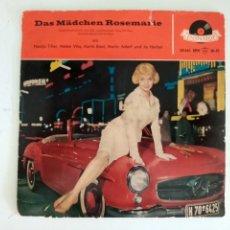 Discos de vinilo: DAS MÄDCHEN ROSEMARIE (LA NIÑA ROSEMARIE) - EXTENDED PLAY - VINILO - ALEMANIA - 1959. Lote 252787060