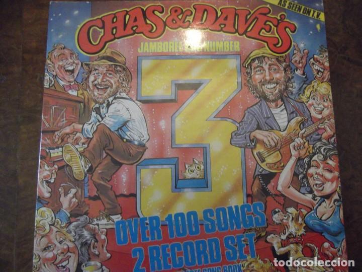DOBLE DISCO LP CHAS & DAVE´S CON 100 TEMAS / 2 RECORDS-SET INCLUYE LIBRO TEMAS ROCKNEY RECORDS 1985 (Música - Discos - LP Vinilo - Cantautores Internacionales)