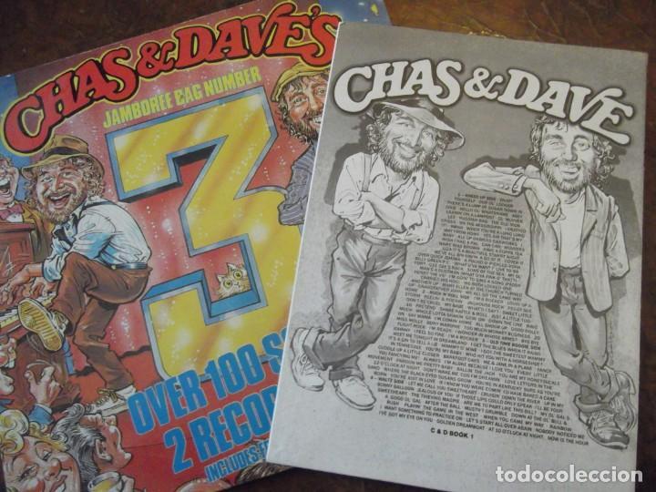 Discos de vinilo: Doble DISCO LP CHAS & DAVE´S Con 100 temas / 2 records-set Incluye libro temas Rockney Records 1985 - Foto 6 - 252788090