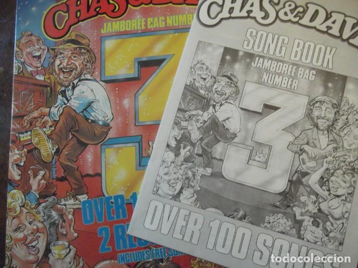 Discos de vinilo: Doble DISCO LP CHAS & DAVE´S Con 100 temas / 2 records-set Incluye libro temas Rockney Records 1985 - Foto 7 - 252788090