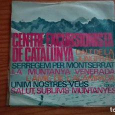 Discos de vinilo: DALT DE LA JUNGFRAU EP CENTRE EXCURSIONISTA DE CATALUNYA + 4 JOSEP M. PARELLADA. Lote 252802065