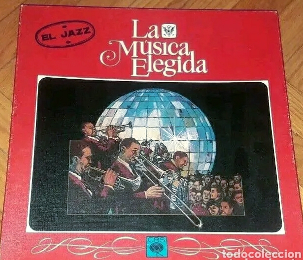 EL JAZZ COLECCION LA MÚSICA ELEGIDA CAJA CON 4 VINILOS LP Y LIBRO 1982 (Música - Discos - LP Vinilo - Jazz, Jazz-Rock, Blues y R&B)