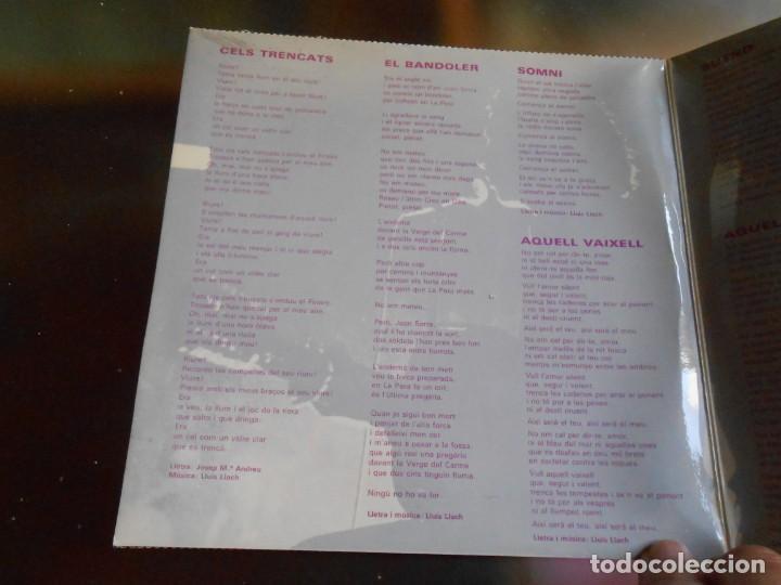 Discos de vinilo: LLUIS LLACH, EP, CELS TRENCATS + 3, AÑO 1970 - Foto 2 - 252831905