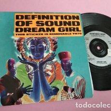 Discos de vinilo: DEFINITION OF SOUND - DREAM GIRL / THE GOD IN ME. Lote 252834765