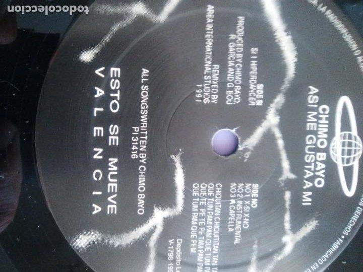 Discos de vinilo: CHIMO BAYO. - ASI ME GUSTA A MI. DIRECTO - ESTO SE MUEVE VALENCIA - LP. TDKDA34 - Foto 7 - 252844805