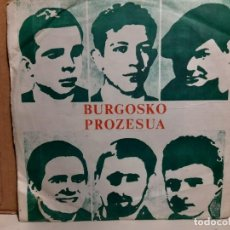 Discos de vinilo: SINGLE CLANDESTINO FRANCES : BURGOSKO PROZESUA ( EL PROCESO DE BURGOS). Lote 252864525