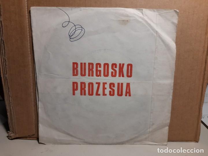 Discos de vinilo: SINGLE CLANDESTINO FRANCES : BURGOSKO PROZESUA ( EL PROCESO DE BURGOS) - Foto 2 - 252864525