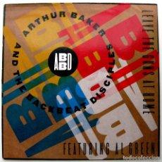 Discos de vinilo: ARTHUR BAKER & THE BACKBEAT DISCIPLES - LEAVE THE GUNS AT HOME - MAXI ARISTA 1991 GERMANY BPY. Lote 252938035