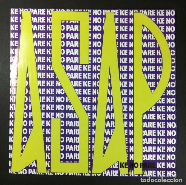 ASAP - KE NO PARE - SINGLE PROMOCIONAL 1992 - ENFASIS (Música - Discos - Singles Vinilo - Techno, Trance y House)