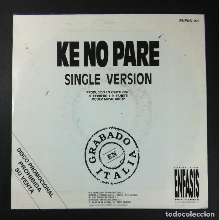 Discos de vinilo: ASAP - Ke no pare - SINGLE PROMOCIONAL 1992 - ENFASIS - Foto 2 - 252960320