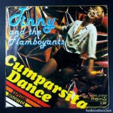 Discos de vinilo: JINNY AND THE FLAMBOYANTS - CUMPARSITA DANCE / SERENADE TO CRIPTON - SINGLE 1979 - OLYMPO. Lote 252970445