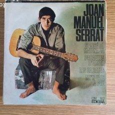 Discos de vinilo: ** JOAN MANUEL SERRAT - CANÇÓ DE MATINADA / PARAULES D'AMOR + 2 - EP AÑO 1966 - LEER DESCRIPCIÓN. Lote 252990280