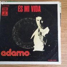 Disques de vinyle: ** ADAMO - ES MI VIDA / LOS CAMPOS ES PAZ - SG AÑO 1975 - PROMOCIÓN - LEER DESCRIPCIÓN. Lote 252992605