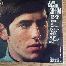 Discos de vinilo: ** JOAN MANUEL SERRAT - ARA QUE TINC 20 ANYS + 3 - EP AÑO 1966 - LEER DESCRIPCIÓN. Lote 252997090