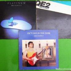 Discos de vinilo: LOTE DE 2 LP Y 1 MAXI DE MIKE OLDFIELD (PLATINUM - QE2 - PICTURES IN THE DARK). Lote 253015930