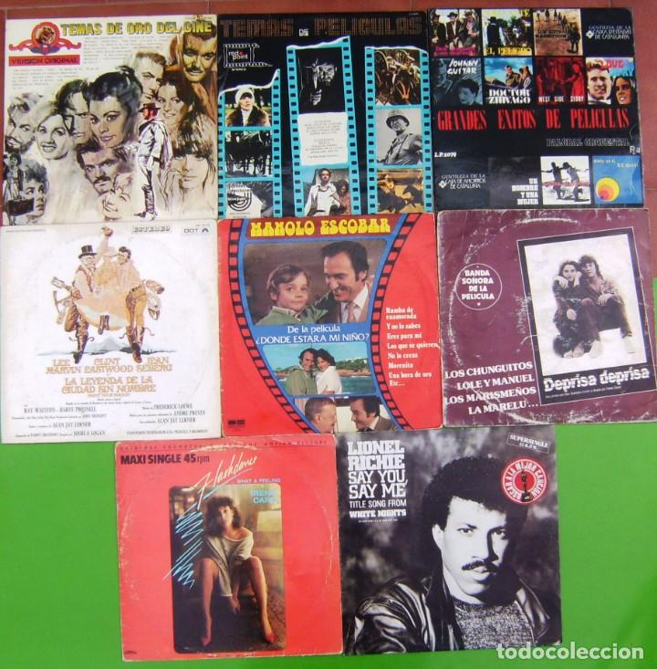 LOTE 7 LP Y 2 MAXI BSO PELICULAS (FLASHD, DEPRISA, DEPRISA, MANOLO ESCOBAR, LIONEL RITCHIE...) (Música - Discos - LP Vinilo - Bandas Sonoras y Música de Actores )