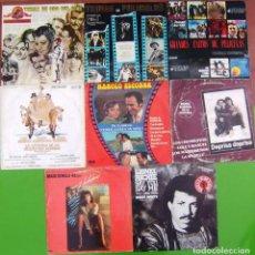 Discos de vinilo: LOTE 7 LP Y 2 MAXI BSO PELICULAS (FLASHD, DEPRISA, DEPRISA, MANOLO ESCOBAR, LIONEL RITCHIE...). Lote 253018765