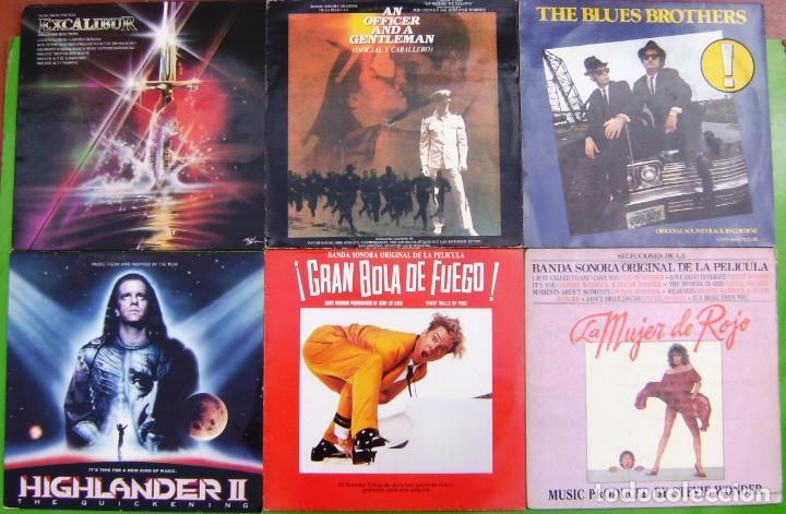 LOTE 6 LP BSO (EXCALIBUR, LOS INMORTALES II, GRAN BOLA DE FUEGO, THE BLUES BROTHERS, MUJER DE ROJO) (Música - Discos - LP Vinilo - Bandas Sonoras y Música de Actores )