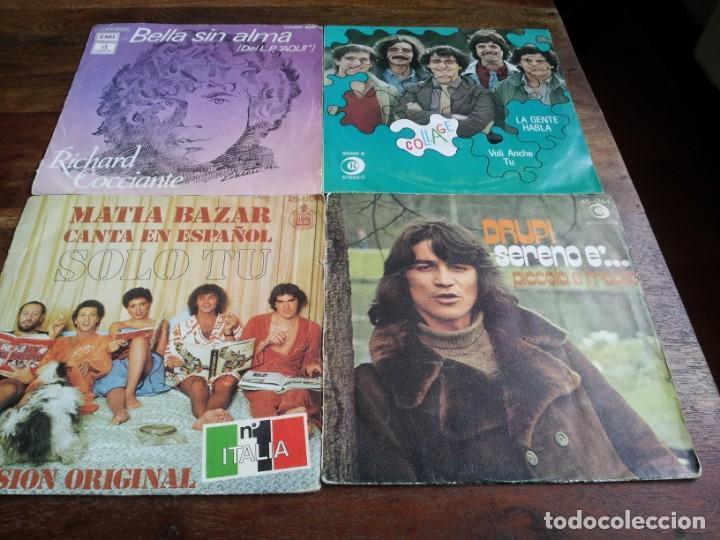 LOTE SINGLES DE MUSICA ITALIANA, COLLAGE,DRUPI,MATIA BAZAR, LUCIO BATTISTI - 8 SINGLES ORIGINALES (Música - Discos - Singles Vinilo - Cantautores Internacionales)