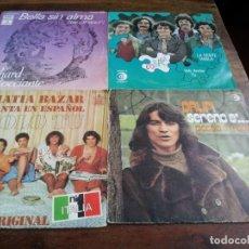 Discos de vinilo: LOTE SINGLES DE MUSICA ITALIANA, COLLAGE,DRUPI,MATIA BAZAR, LUCIO BATTISTI - 8 SINGLES ORIGINALES. Lote 253021945