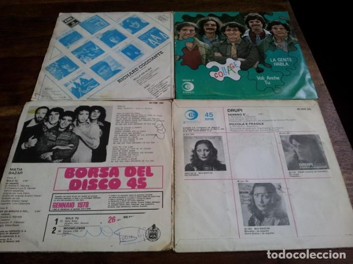 Discos de vinilo: lote singles de musica italiana, Collage,Drupi,Matia bazar, Lucio Battisti - 8 singles originales - Foto 2 - 253021945