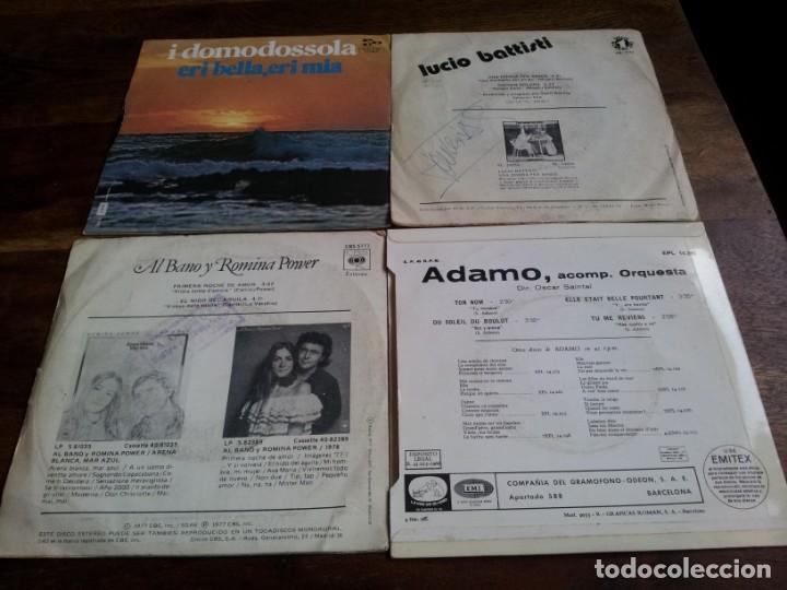 Discos de vinilo: lote singles de musica italiana, Collage,Drupi,Matia bazar, Lucio Battisti - 8 singles originales - Foto 4 - 253021945