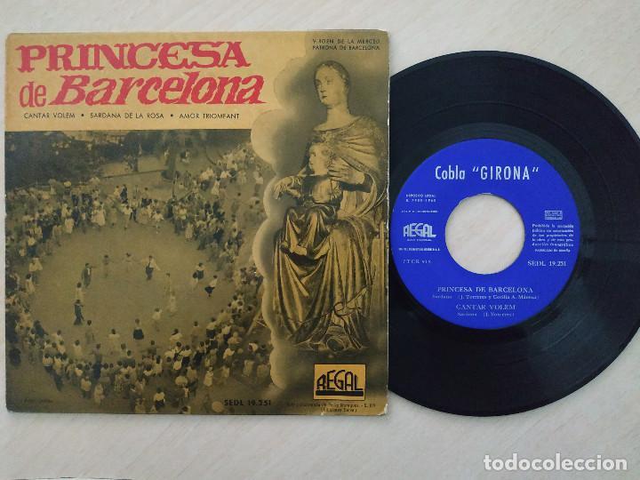 COBLA GIRONA – PRINCESA DE BARCELONA / CANTAR VOLEM / SARDANA DE LA ROSA / AMOR TRIUMFANT - EP VG+ (Música - Discos de Vinilo - EPs - Étnicas y Músicas del Mundo)