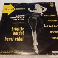 Disques de vinyle: EP BRIGITTE BARDOT HENRI VIDAL DE VOULEZ-VOUS DANSER AVEC MOI - PHILIPS 424.161PE -PEDIDOS MINIMO 7€. Lote 253028320