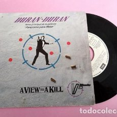Dischi in vinile: DURAN DURAN - A VIEW TO A KILL - SINGLE 1985 PROMOCIONAL. Lote 253029525