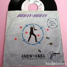 Discos de vinil: DURAN DURAN - A VIEW TO A KILL - SINGLE 1985. Lote 253029970