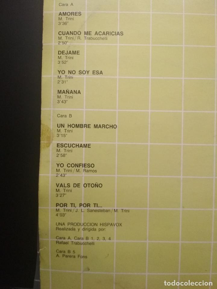 Discos de vinilo: 2 LP MARI TRINI GRANDES CANCIONES - DOBLE LP GATEFOLD HISPAVOX - 1983 PEPETO - Foto 3 - 253030035