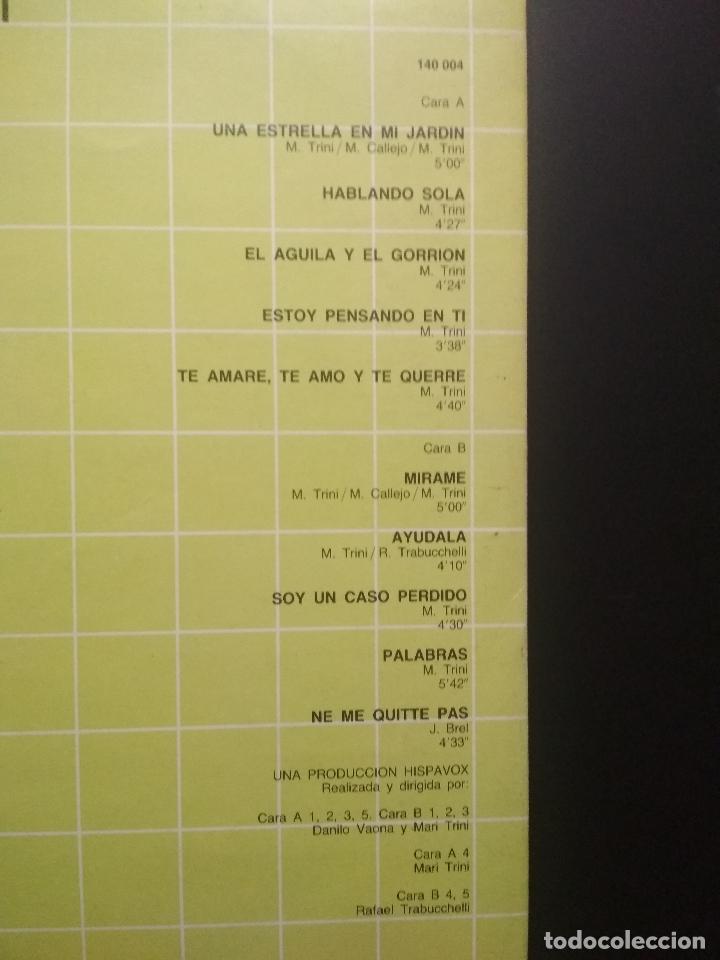 Discos de vinilo: 2 LP MARI TRINI GRANDES CANCIONES - DOBLE LP GATEFOLD HISPAVOX - 1983 PEPETO - Foto 6 - 253030035