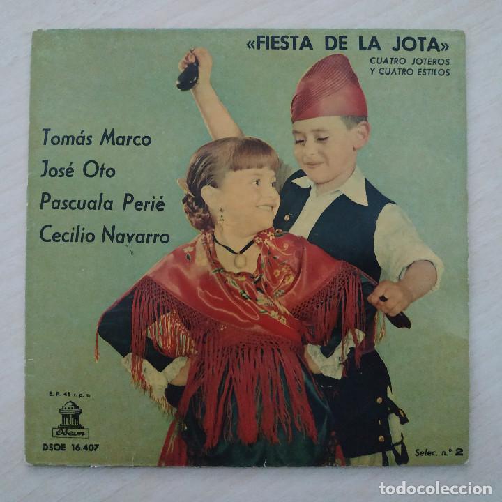 FIESTA DE LA JOTA - TOMÁS MARCO - JOSÉ OTO - PASCUALA PEIRÉ - CECILIO NAVARRO - EP 1961 VINILO ROJO (Música - Discos de Vinilo - EPs - Étnicas y Músicas del Mundo)