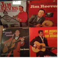 Discos de vinilo: JIM REEVES - 4 DISCOS DE VINILO LPS. Lote 253035550