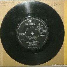 Discos de vinilo: THE BEDROCKS. OB-LA-DI, OB-LA-DA/ LUCY. COLUMBIA, UK 1968 SINGLE. Lote 253035615