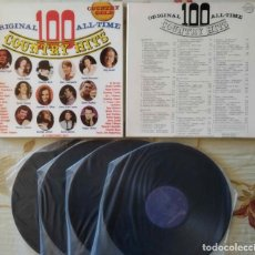 Discos de vinilo: COUNTRY HITS - CAJA 4 DISCOS LPS. Lote 253038155