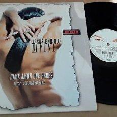 Discos de vinilo: MAXI SINGLE - JESUS ENRIQUE DIVINE - DIME AMOR QUE BEBES - AUTOR : ALEJANDRO SANZ. Lote 253064890