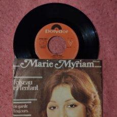 Discos de vinilo: SINGLE MARIE MYRIAM - L'OISEAU ET L'ENFANT - POLYDOR 2056 601 PORTUGAL PRESS (EX-/VG) EUROVISION 77. Lote 253092935