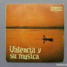 Discos de vinilo: DISCO VINILO SINGLE VALENCIA Y SU MUSICA ORLADOR. Lote 253096105