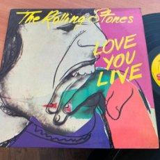 Discos de vinil: ROLLING STONES (LOVE YOU LIVE) 2 X LP ESPAÑA 1980 GAT. (B-26). Lote 253124730