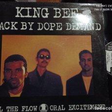 Discos de vinilo: KING BEE - BACK BY DOPE DEMAND - MAXI UK 1ST BASS 91 HIP HOP. Lote 253169775